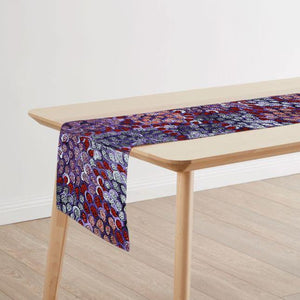 Australian Made Table Runner Featuring Indigenous Art Prints