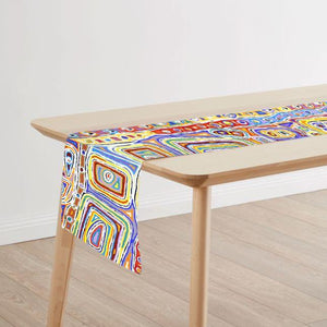Table Runner Set made in Australia with Indigenous Art Prints