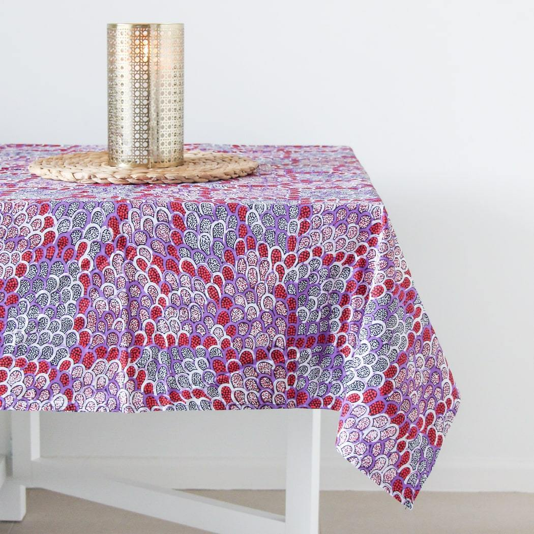 Australian Made Table Cloth Souvenir Flower Print