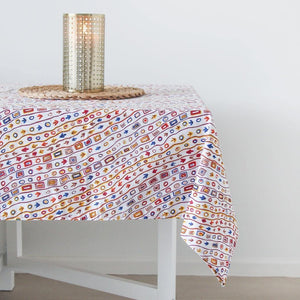 Table cloth featuring beautiful Australian aboriginal print