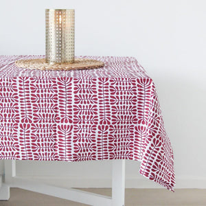 Table cloth featuring beautiful aboriginal art print