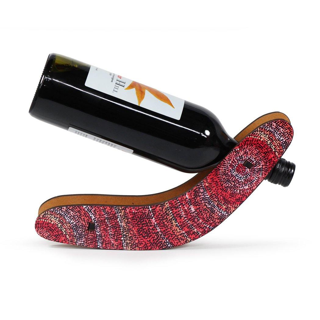 wine bottle holder souvenir idea featuring Australian art