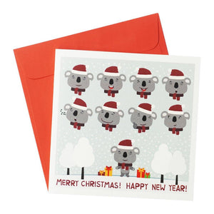 Christmas Koalas Greeting Card