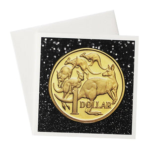 One Dollar Australian Coin Greeting Card
