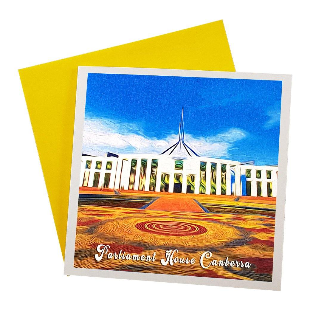 Australian made greeting card featuring Canberra