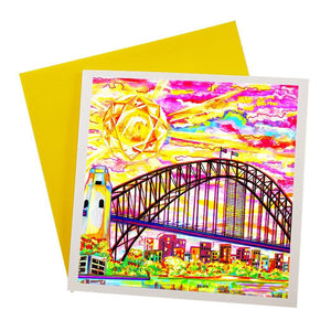 Australian greeting card featuring Sydney Harbour bridge