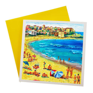 Australian Greeting Card featuring bondi beach