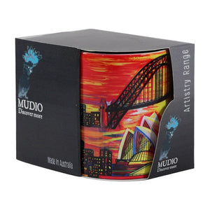 Mudio Artistry Range Mug - Harbour Bridge Red