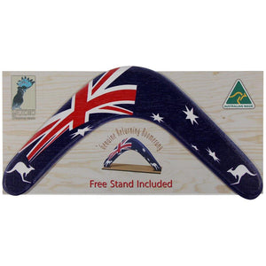 Boomerang featuring Australian flag with packaging