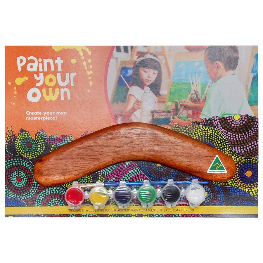 Paint Your Own Boomerang Hardwood Kit