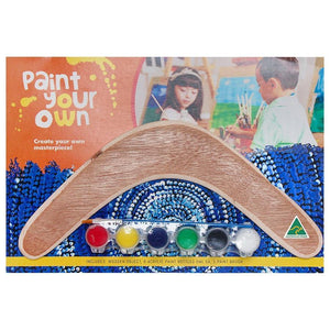 Paint Your Own Boomerang Plywood Kit