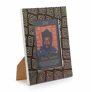 Thomas Tjapaltjarri Photo Frame Brown Yellow