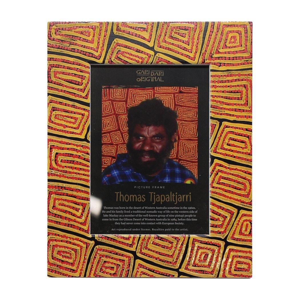 Thomas Tjapaltjarri Photo Frame Orange Red