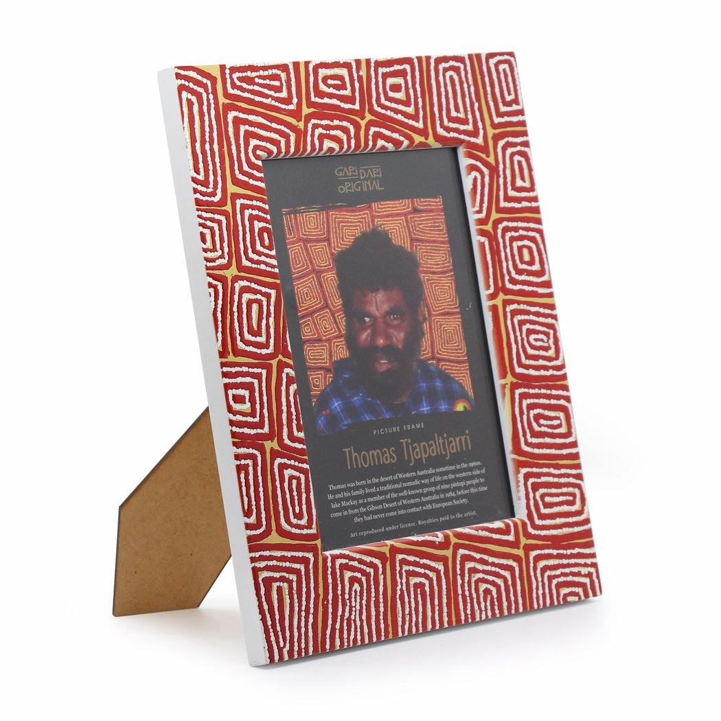 Thomas Tjapaltjarri Photo Frame Ruby Yellow