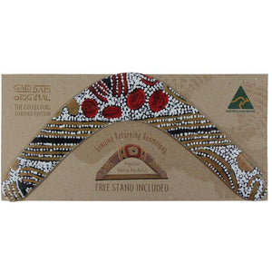 Hand made Australian Boomerang with packaging