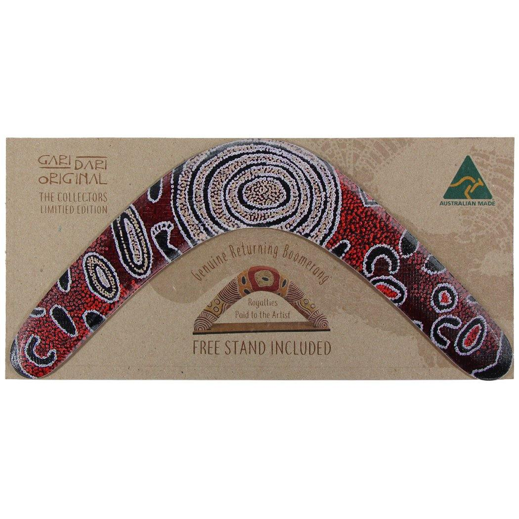 Hand crafted Australian boomerang with packaging