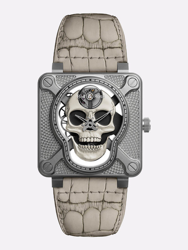 Bell & Ross BR 01 Laughing Skull White
