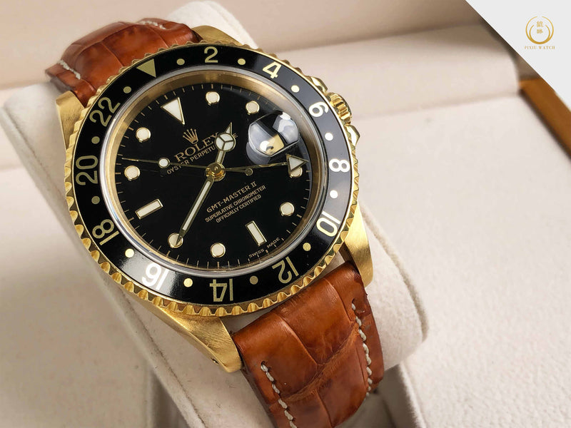 Rolex Vintage GMT-MASTER II 18K Yellow Gold (16718)