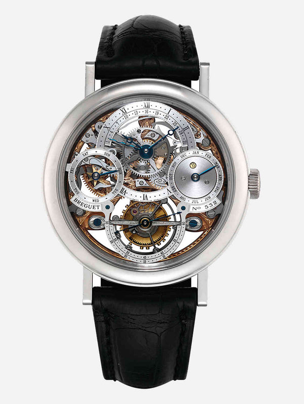 Breguet Classique Complications Tourbillion Perpetual Calendar Skeleton Platinum