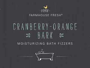 Cranberry Orange Bark Bath Fizzer