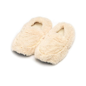 Warmies® Plush Slippers Cream