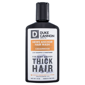 Duke Cannon 2-in-1 Hair Wash Cedar