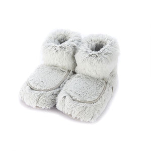 Warmies® Plush Marshmallow Boot Gray