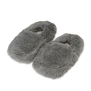 Warmies® Plush Slippers Gray
