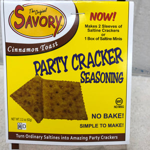 Cinnamon Toast Savory Cracker Mix