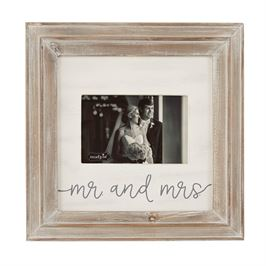 Mud Pie Mr & Mrs Small Wood Frame