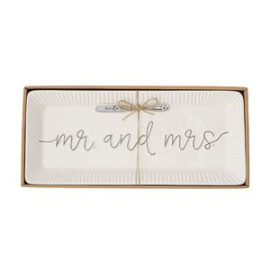 Mud Pie Mr & Mrs Hostess Tray