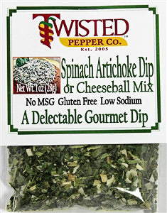 Twisted Pepper Spinach Artichoke