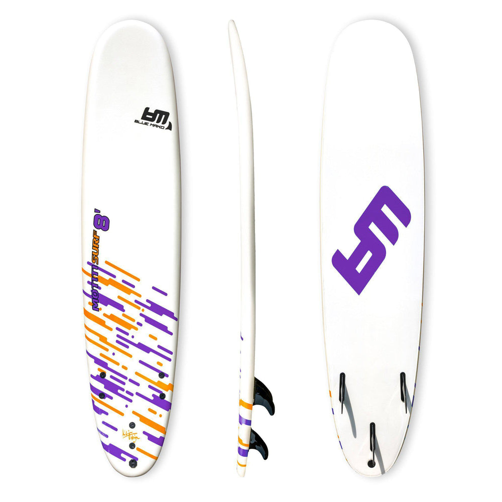 motiti 8 | minimal longboard hybrid-purple | white | orange-Bluemako