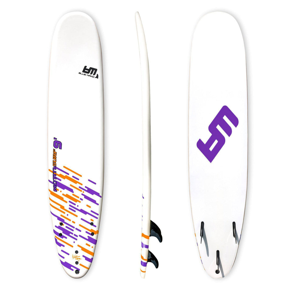 motiti 9 | soft top longboard-purple | white | orange-Bluemako