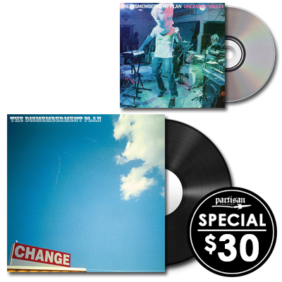 The Dismemberment Plan 'Change' LP + 'Uncanney Valley' CD Bundle