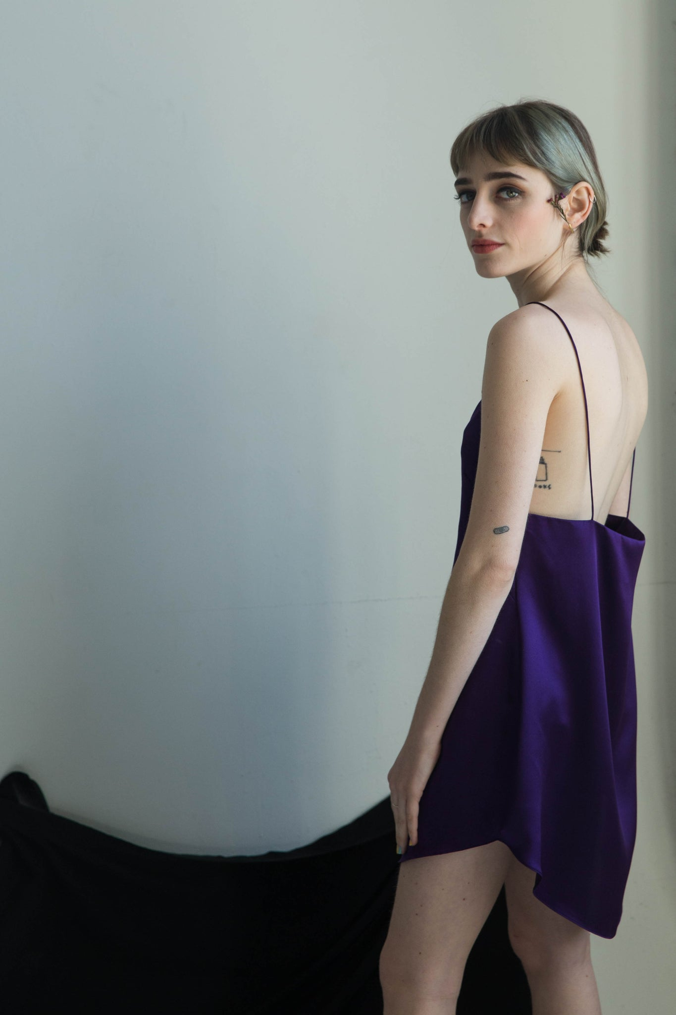 Jing Mini Dress in Deep Purple