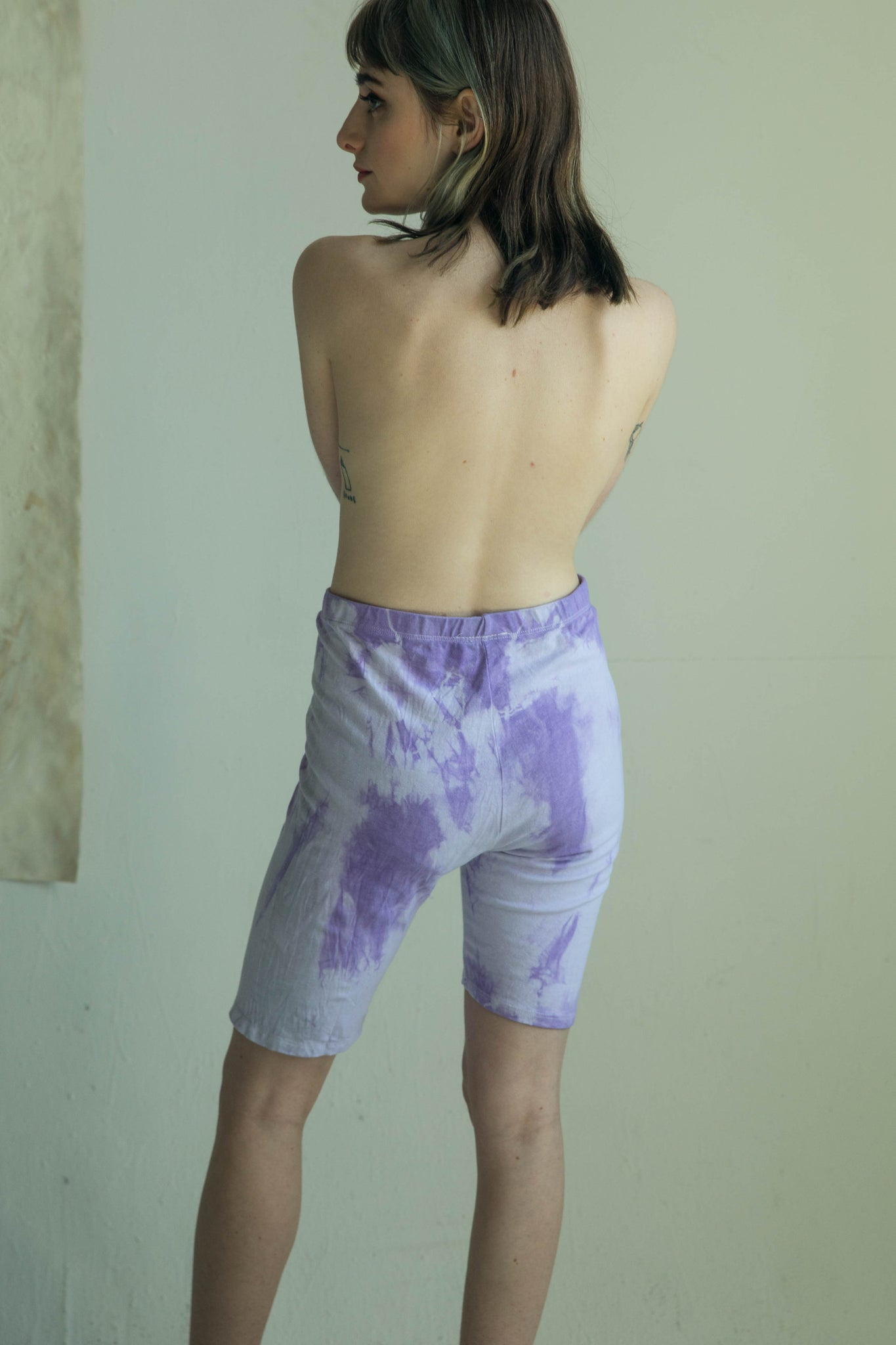 Purple Clouds Biker Shorts