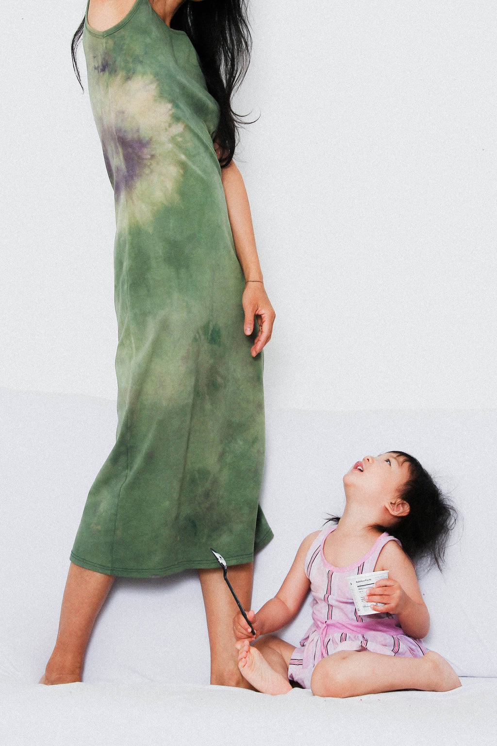 Tank Long Dress in Broccoli