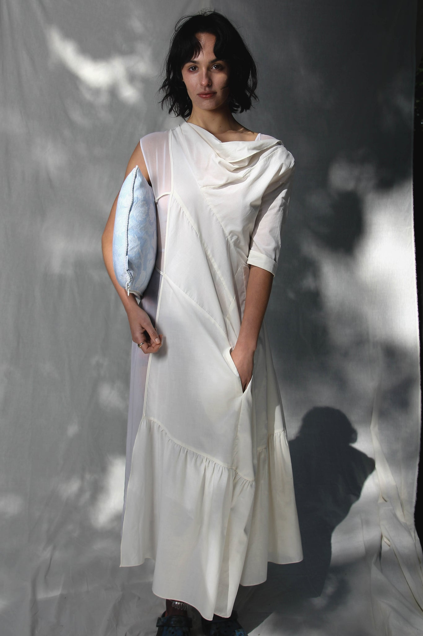 Asymmetric Side Half-Full Dress