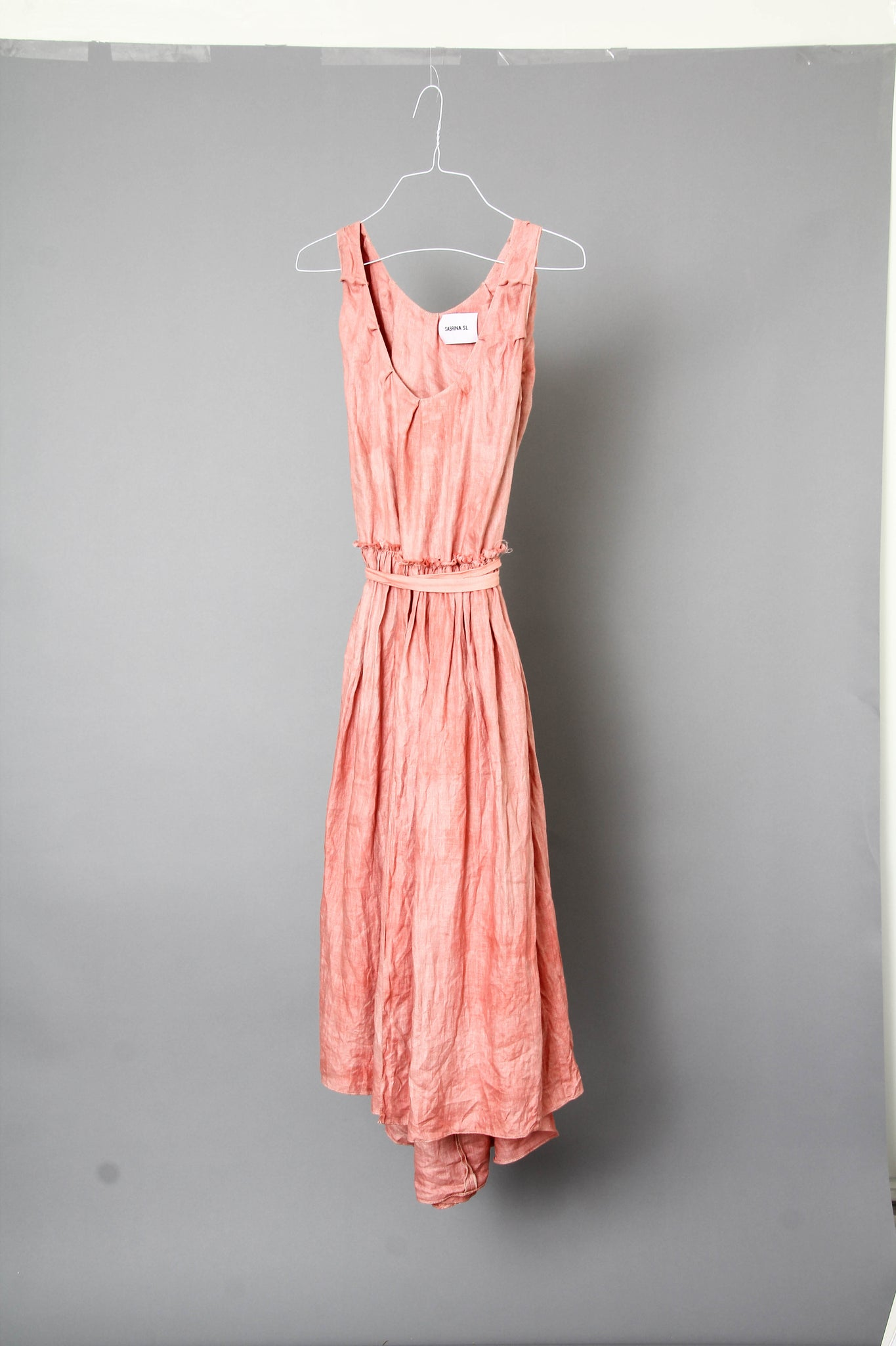 Brigid Midi Dress in Sakura Pink