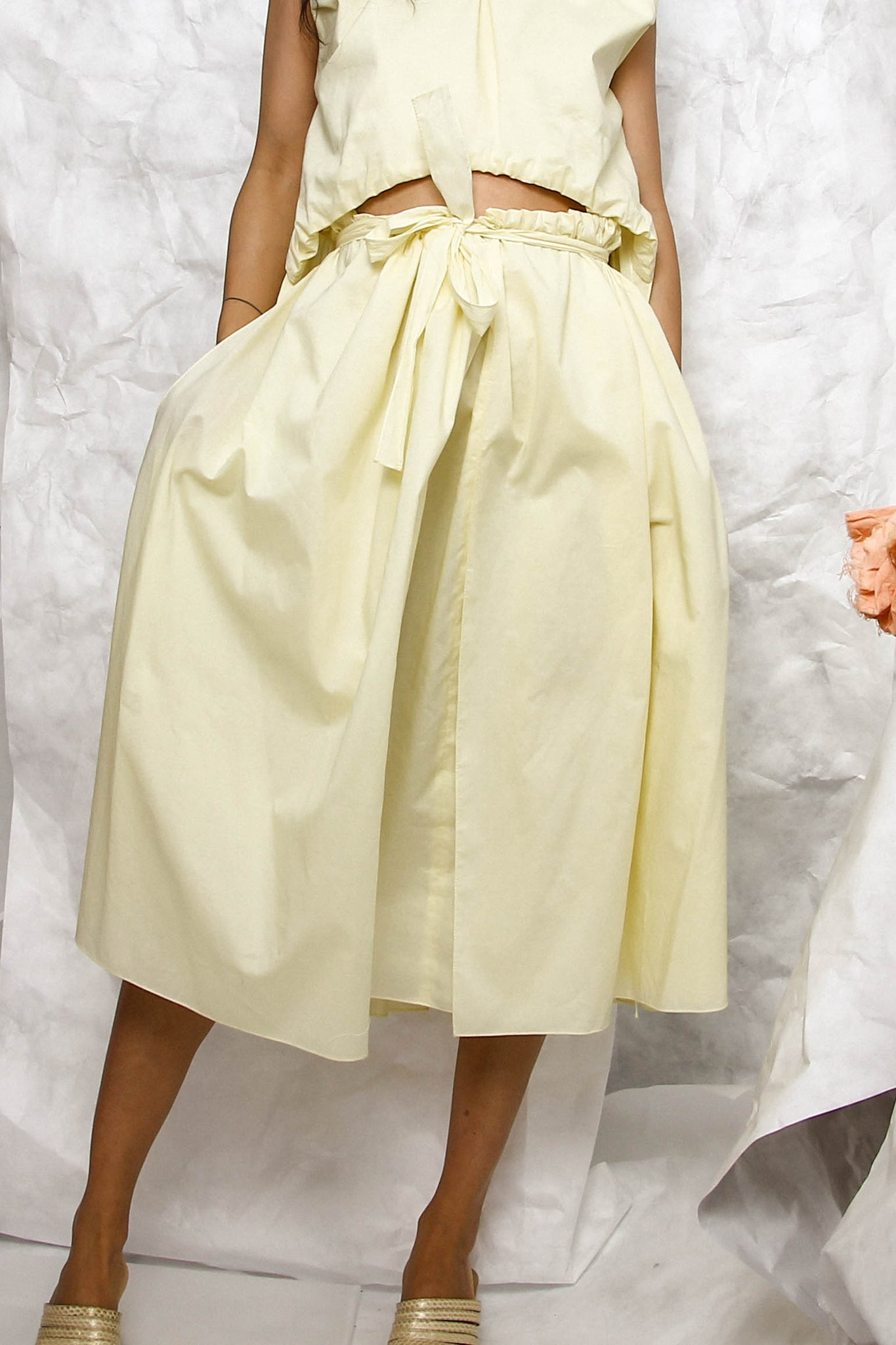 Brigid Dress in Light Yellow