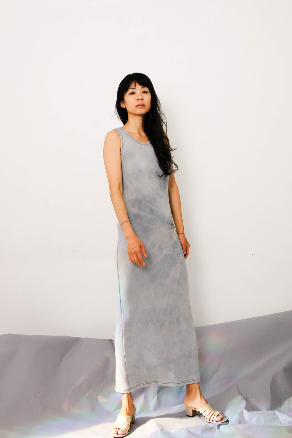Tank Long Dress in Light Aqua