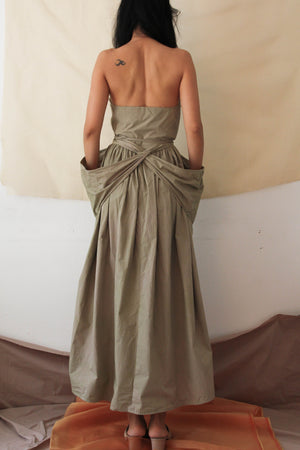 Strapless Dress in Celery
