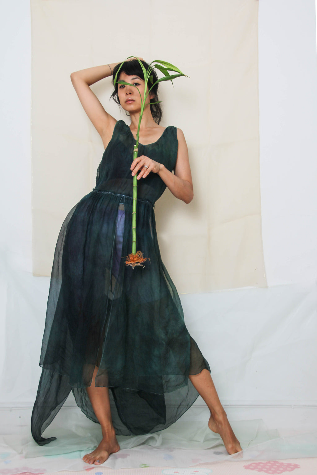 Brigid Dress in Seaweed