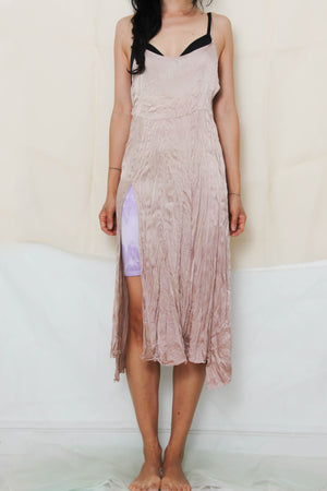 Silk Dress in Dusty Rose