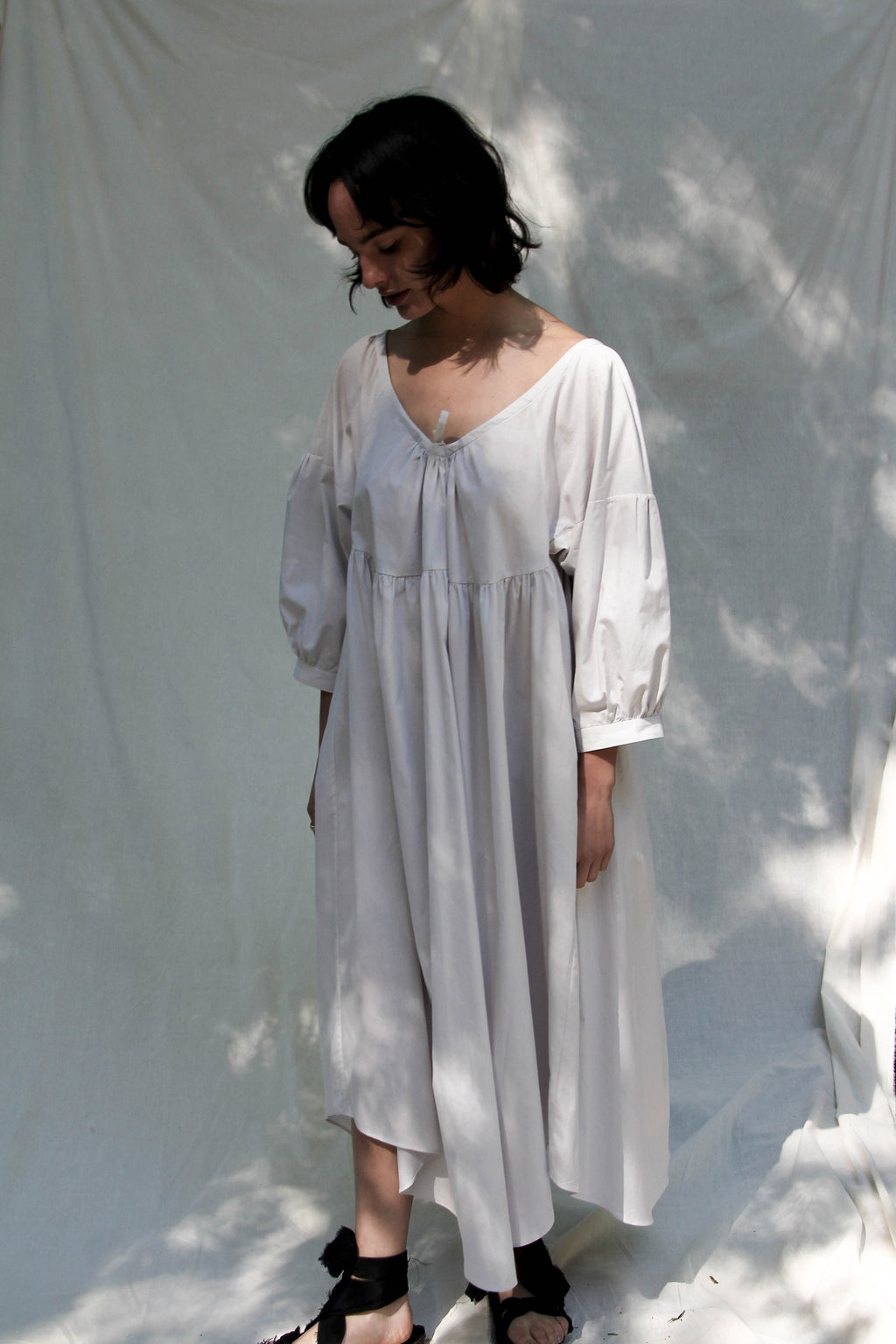 Adjustable Oversize Dress in Cloud