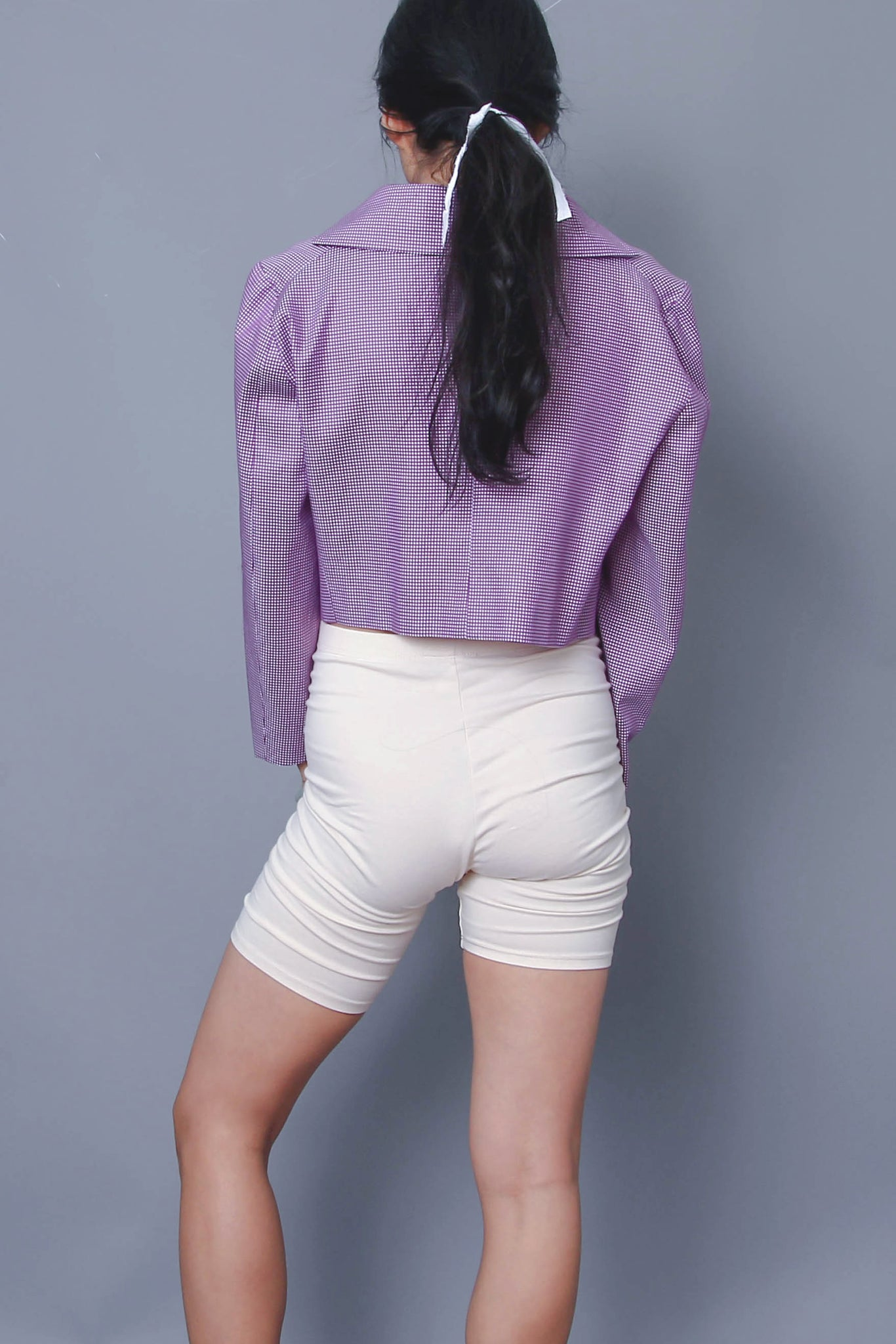 Oversize Crop Jacket in Purple