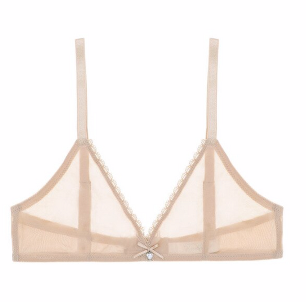Sheer Triangle Bra