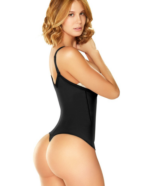 Diane & Geordi 002376 | Women's Strapless Thong Body Shaper | Tummy Control Shapewear / Latex (THONG)