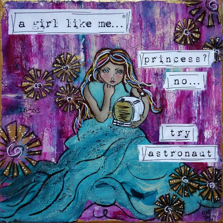 a girl like me...® astronaut 10x10 - original